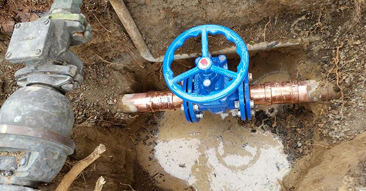 Fire service valve installation